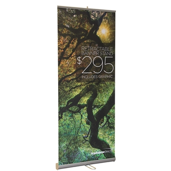 Value Retractable Banner Stand with Graphic