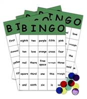 Sight Words Bingo Game: kindergarten level
