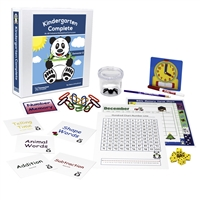 Kindergarten Complete Semester Two Bundle teacher's manuals flashcards bingo games memory games charts base ten counting pieces number line hundred chart twelve-month calendar spiral-bound planner