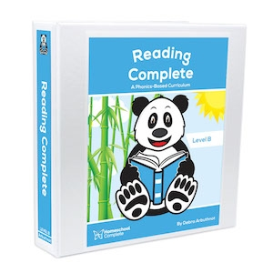 Homeschool Complete Reading Complete Level B: Teacher's Manual and student workbook pages