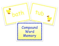 Homeschool Complete Compound Words Memory Game