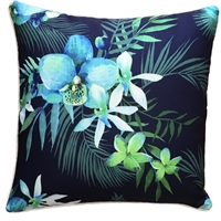 Blue Lagoon Navy Outdoor Cushion