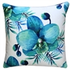 Blue Lagoon White Orchid Outdoor Cushion