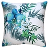 Blue Lagoon White Posey Outdoor Cushion