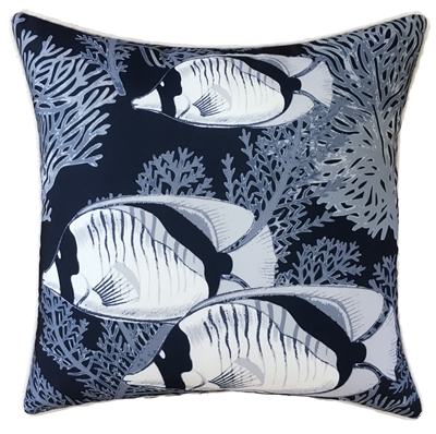 Coral Cove Navy Outdoor Cushion