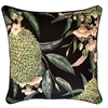 Exotic Blooms Black Outdoor Cushion