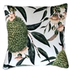 Exotic Blooms White Outdoor Cushion