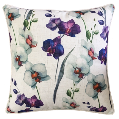 Orchid Linen Cushion