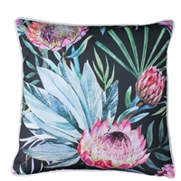 Protea Black Outdoor Cushion
