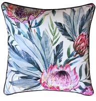 Protea White Outdoor Cushion