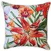 Tigerlily White Outdoor Cushion