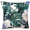 White Hibiscus Linen Cushion
