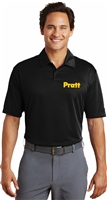 Nike Golf Dri-FIT Pebble Texture Polo with Pratt Logo