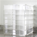 Clear Acrylic Make Up Organizer 5 Drawers plus Lid Drawer