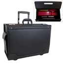 Stebco Document Case on Wheels with Leather Trim