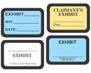 Laser exhibit labels for Exhibit label template