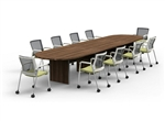 Amber Series Expandable 16' Racetrack Conference Table AM-411N by Cherryman