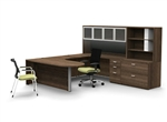 Amber Series Modern U-Desk Configuration by Cherryman