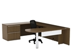 Verde Series VL-725 Modern Desk with Lateral File by Cherryman