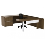 Verde VL-726 Arc End U Desk with Lateral File by Cherryman