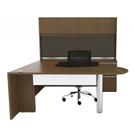 Verde Series Arc End U Desk with Hutch VL-730 by Cherryman