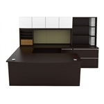Verde Series VL-732N Contemporary U Shaped Desk Set by Cherryman