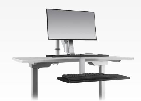 Esi Ergorise Sit To Stand Workstation With Clamp Mount Climb1
