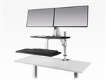 ESI Ergorise CLIMB2 Dual Screen Attachable Sit To Stand Workstation with Keyboard Platform
