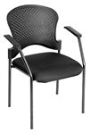 Breeze Series Black Guest Chair FS9077 by Eurotech
