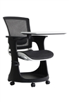 Eduskate White and Black Tablet Chair by Eurotech Seating