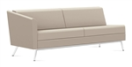 Wind Linear Series 3363RLM Leather Sofa with Single Right Arm by Global