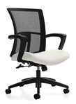 Vion 6322-4-C Mid Back Mesh Conference Chair by Global