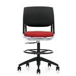 Global Novello 6411 Armless Drafting Chair with Foot Ring