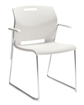Popcorn Series Stacking Armchair 6710 by Global