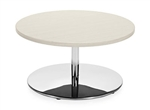 "Jeo Series Contemporary 30"" Coffee Table with Chrome Base by Global"