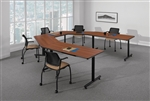 Global ConnecTABLES CNN503 Modular U Shaped Conference and Training Tables Layout
