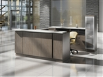 Zira Two Tone U Shaped Reception Desk by Global Total Office