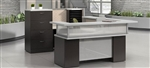 U Shaped Zira Series Reception Desk by Global Total Office