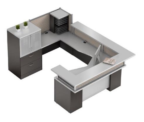 Zira Series U Shaped Desks For Office Reception Areas