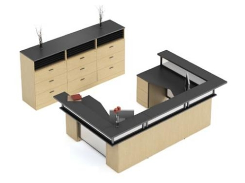 2 Person Reception Desks From The Global Zira Casegoods