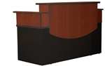Rectangular Reception Desk CST26CCHBLK by Mayline