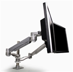 EZKC2 Dual Screen Pole Mounted Monitor Arm by Mayline