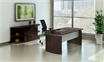 "Mayline Medina Series 72"" Mocha Desk with Lateral File Cabinet and Bookcases"