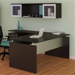 Medina Mocha Finished L Shaped Desk with Hutch by Mayline