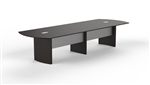 Mayline Medina Series 12' Mocha Conference Table with Optional Power