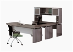 Medina Collection MNT32LGS U Shaped Desk in Gray Steel by Mayline