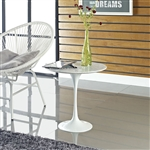 Modway EEI-280 Lippa Collection White Side Table with Marble Top