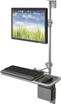 MooreCo Single Screen Economy Wall Mount Workstation 90377