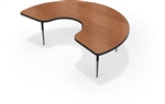 "MooreCo 72""W Kidney Shaped Activity Table 90527-V"