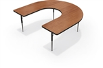 MooreCo Horseshoe Shaped Activity Table 90527-W